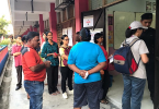 Early voters at the Semenyih by-election.