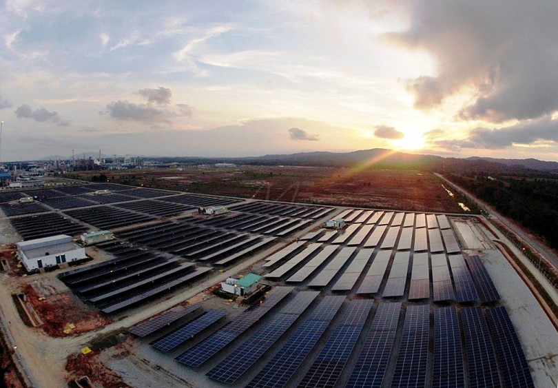 A Petronas' 10MW solar PV plant in Gebeng, Kuantan.