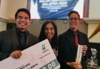 Zaidi and Ahirul with The Mole's Managing Editor Datuk Nuraina Abdul Samad  at the MPI event last night.
