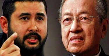 Tunku Ismail Sultan Ibrahim and Tun Dr Mahathir Mohamad.
