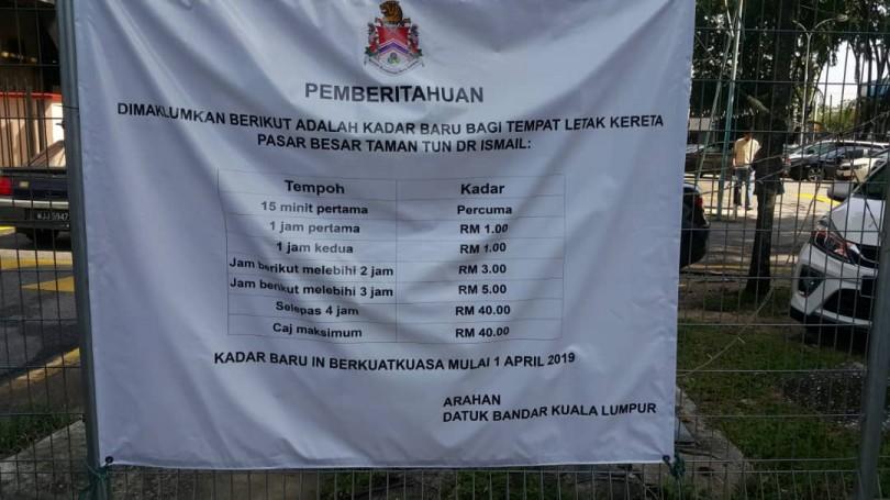 Pasar TTDI parking rates