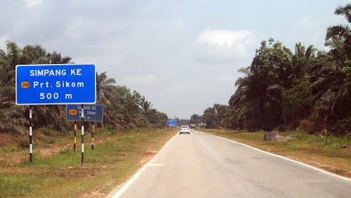 """Rural roads are also known as """"jalan kampung""""."""