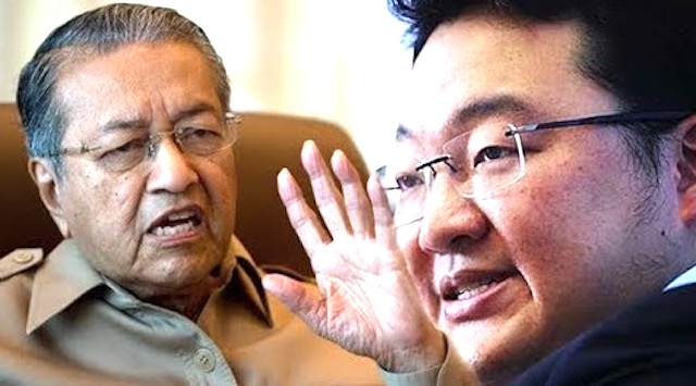 Tun Dr Mahathir Mohamad and Jho Low.
