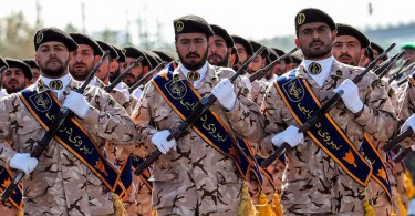 Iran's Revolutionary Guard soldiers.