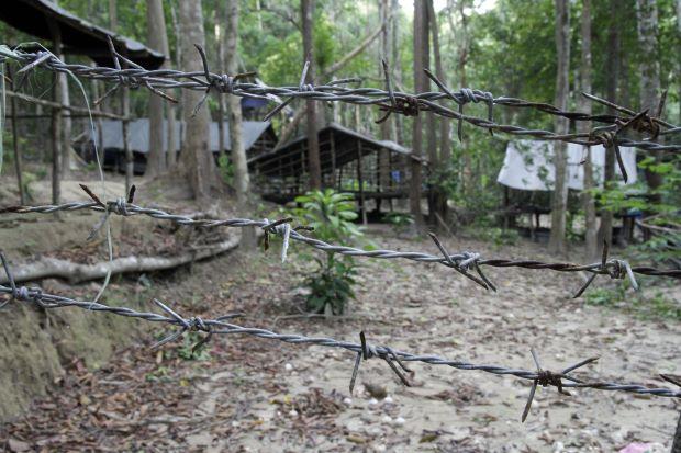 One of the camps in Wang Kelian.