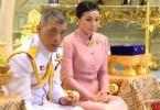 King Maha Vajiralongkorn and Suthida Vajiralongkorn na Ayudhya during their wedding ceremony in Bangkok yesterday.