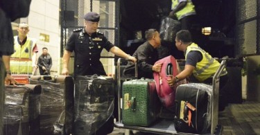 Some of the items to be forfeited were taken away during this police operation.