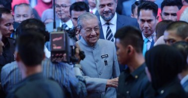 Mahathir arriving for the event.