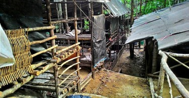 One of the transit camps found in Wang Kelian.