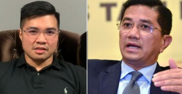 Haziq (left) and Datuk Seri Azmin Ali, the federal minister alleged to be involved in the video.