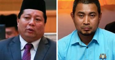 Mazlan Bujang (left) and Datuk Dr Sahruddin Jamal.