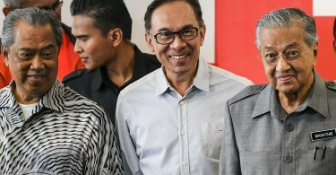 Tan Sri Muhyiddin Yassin, Datuk Seri Anwar Ibrahim and Tun Dr Mahathir Mohamad.