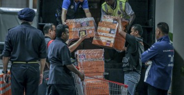 Many of the items were seized from the Pavilion Residences in KL's Bukit Bintang.
