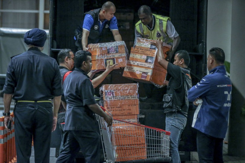 Many of the items were seized from the Pavilion Residences in the heart of Kuala Lumpur.