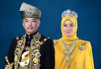Sultan Abdullah and Tunku Azizah.
