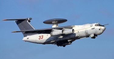 A Russian A50 airborne early warning and control aircraft.