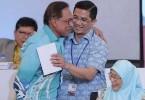Datuk Seri Anwar Ibrahim and Datuk Seri Mohamed Azmin Ali during happier times.