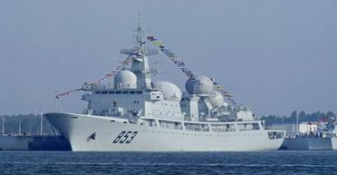 A Chinese People's Liberation Army Navy electronic surveillance ship.
