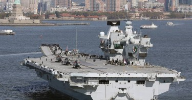 Britain's biggest warship HMS Queen Elizabeth is capable of carrying up to 60 aircraft.