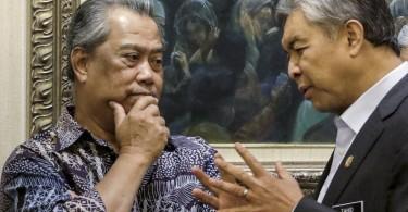 Tan Sri Muhyiddin Yassin and Datuk Seri Ahmad Zahid Hamidi.