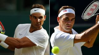 It's Federer (right) who's in the final on Sunday after he beat Nadal in four sets.