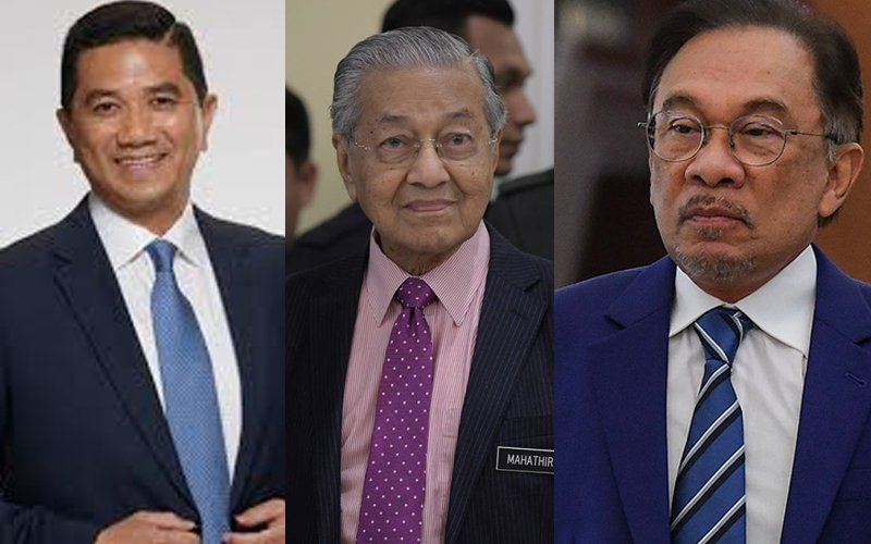 Mahathir and the two contenders.