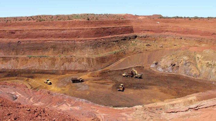 Lynas's rare earths mine in Mount Weld Western Australia.
