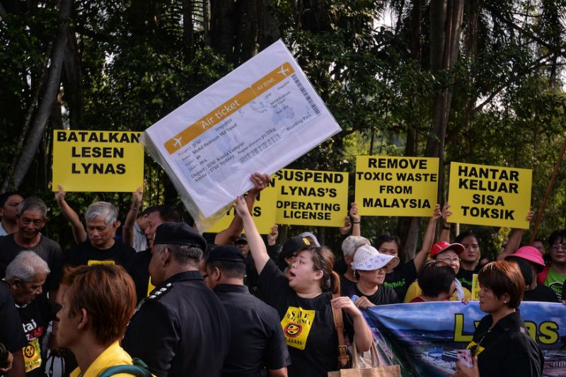 An anti-Lynas protest organised by the NGO, Save Malaysia, Stop Lynas.