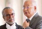 Datuk Seri Najib Razak and his lawyer Tan Sri Muhammad Shafee Abdullah