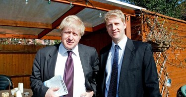 Boris Johnson with his brother Jo.