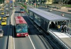 The IMBRT will be similar to this Bus Rapid Transit system in Boston.