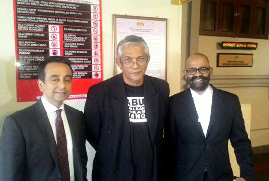 Haris Ibrahim and his lawyers