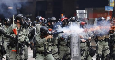 Hong Kong police recently fired some live bullets, one of which injured a protester.